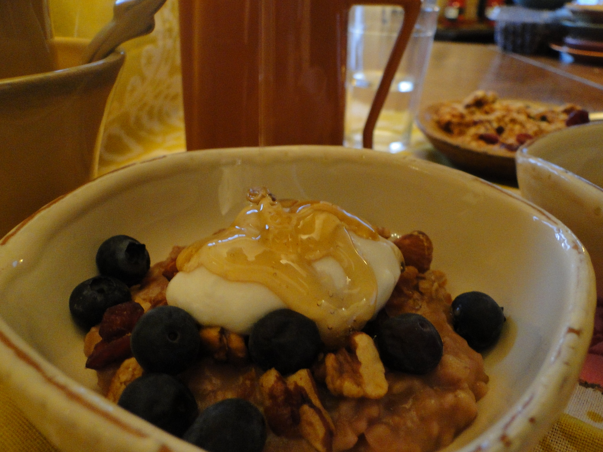 Steel cut oats and granola